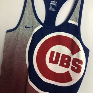 Nike ⚾️ Chicago Cubs Racerback Small Tank Top